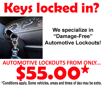 Auto lockouts from only $55.00!